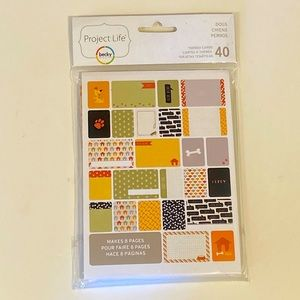 Project Life dog themed scrapbook cards NWT